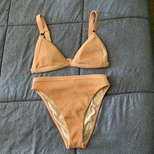 PacSun LA Hearts Orange Ribbed High-Waisted Bikini